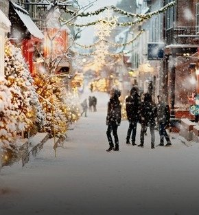 quebec winter wonderland holiday
