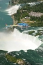 Helicopter view of Niagara Falls