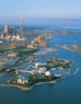 Aerial view of Toronto islands