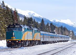 VIA Rail winter canada train holiday