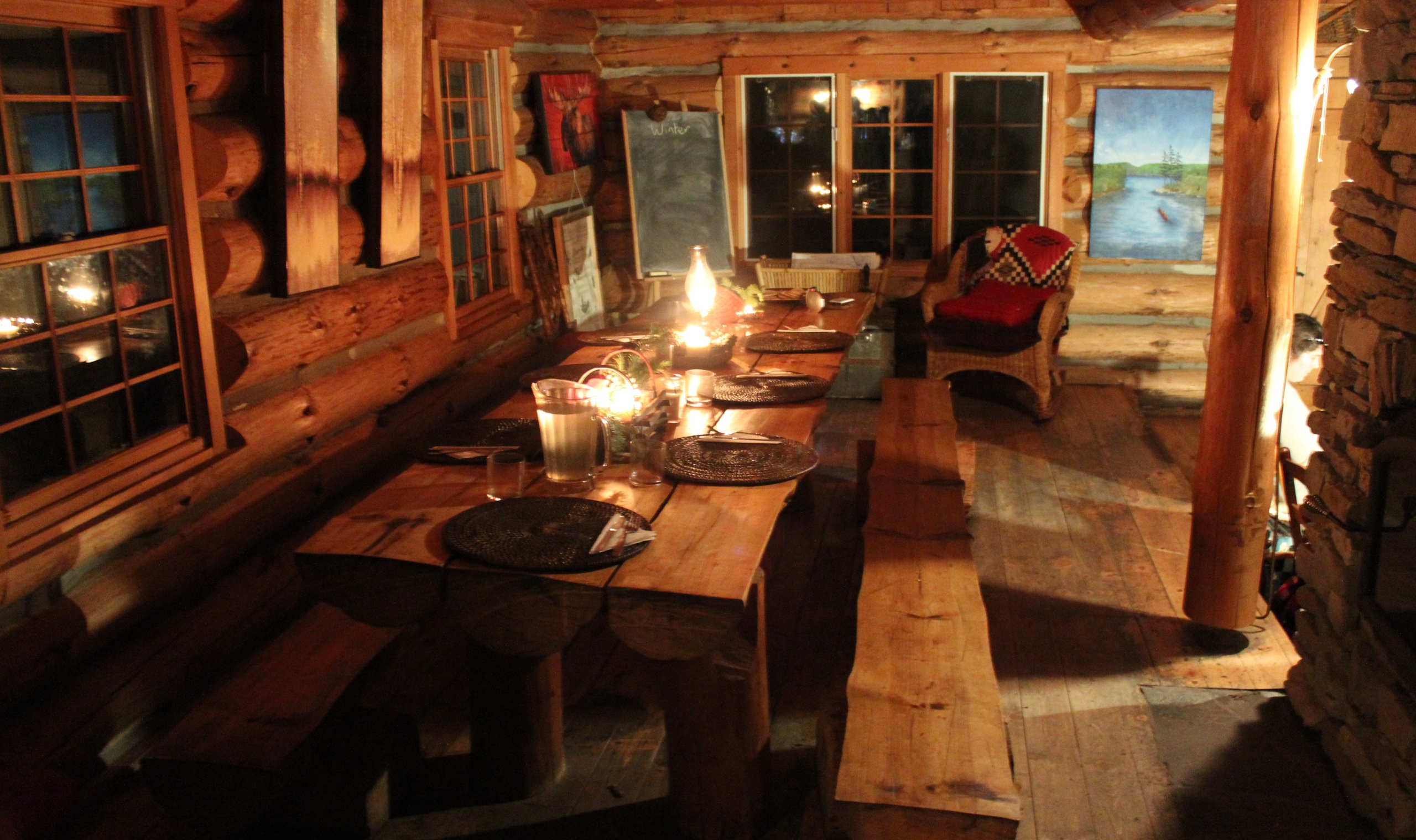 Log cabin retreat in algonquin park canadian affair for Log cabin retreat
