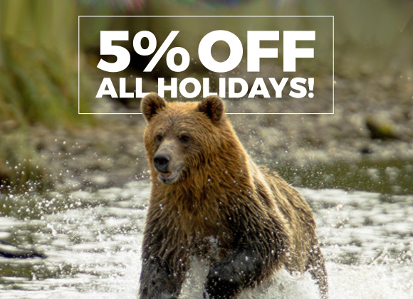 5% off all holidays