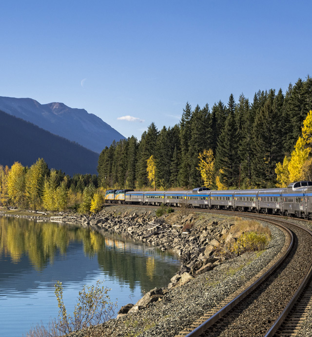 VIA Rail train tour of Jasper National Park, Canada