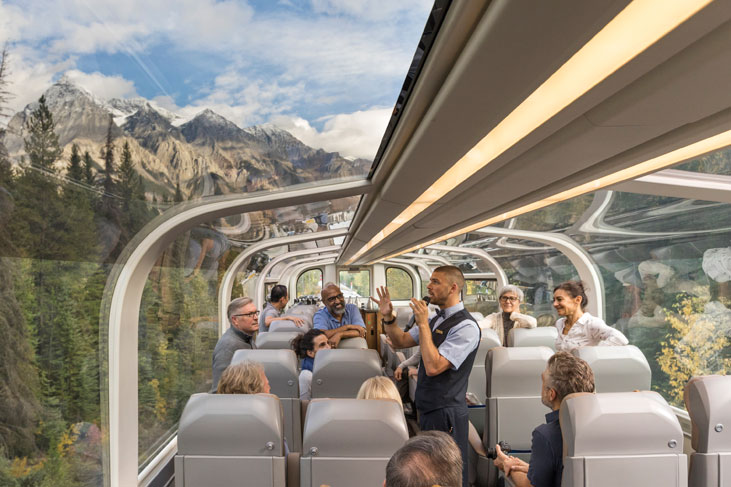 Book a Canadian Rockies Train holiday aboard the Rocky Mountaineer with Canadian Affair