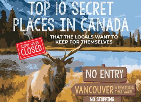 Top 10 secret places in Canada