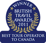 2011  - Best Tour Operator to Canada