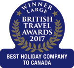 2017 - Gold Best Holiday Company to Canada (Large)