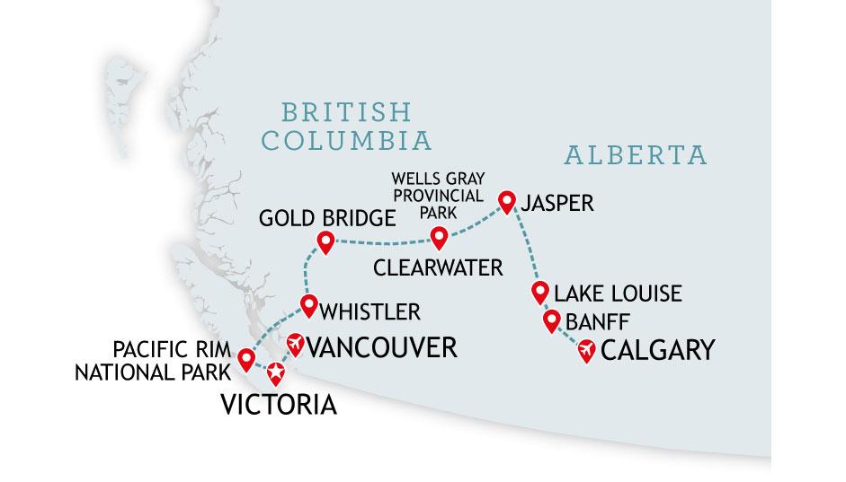 West Coast Canada Fly Drive Holidays 2019 & 2020 | Canadian