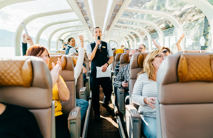 guides on rocky mountaineer