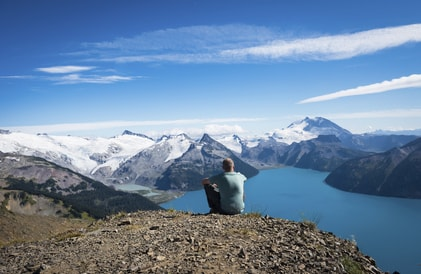 looking out over lake garibaldi