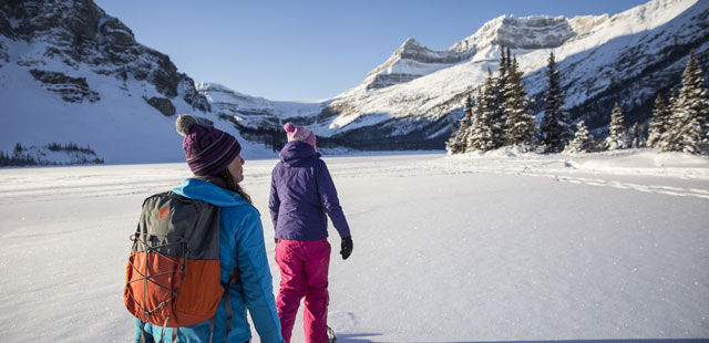 Snowshoeing in Banff
