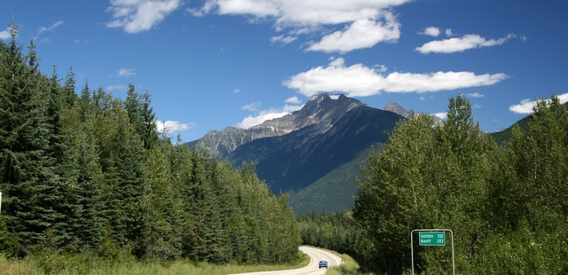 Icefields Parkway in the Rockies