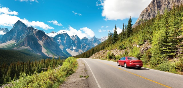 Car hire in the Rockies