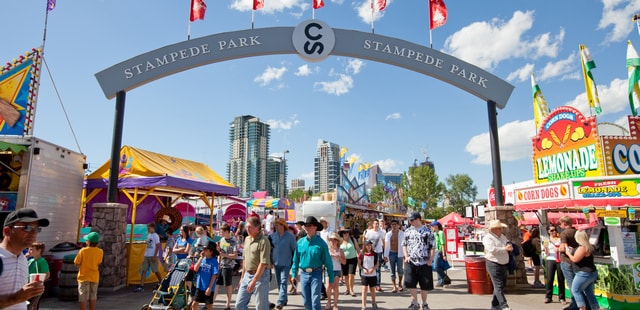 The vibrant Stampede Park