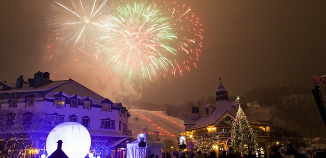 Fireworks in Tremblant