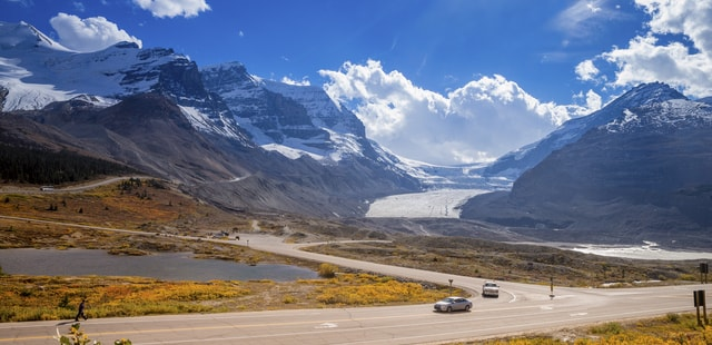 The stunning Icefields Parkway