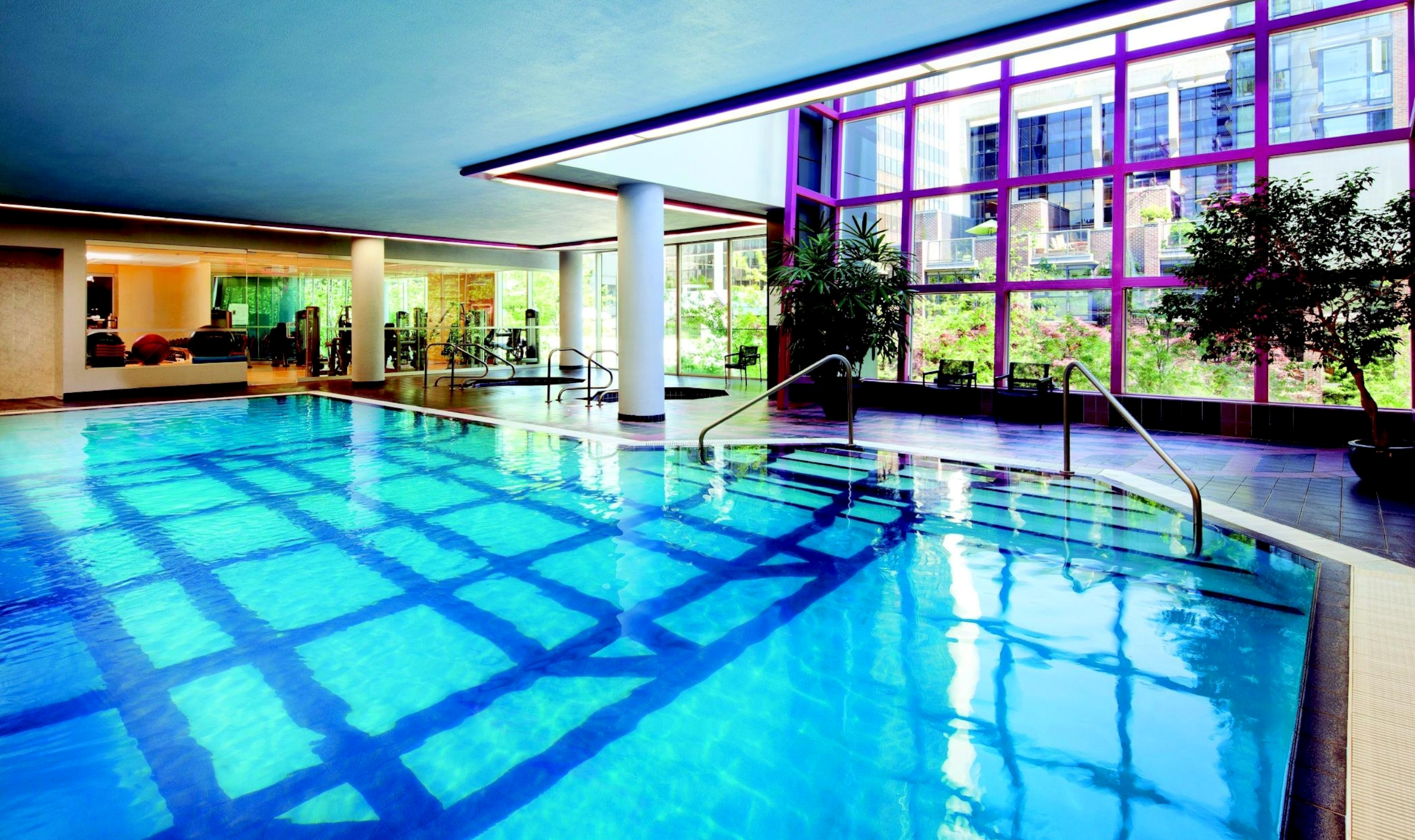 Sheraton wall centre vancouver canadian affair for Indoor swimming pools vancouver