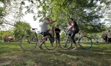 Cycling in Toronto park