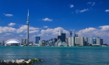 Toronto skyline in the sun