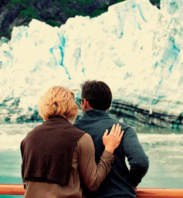 Couple on an Alaska cruise